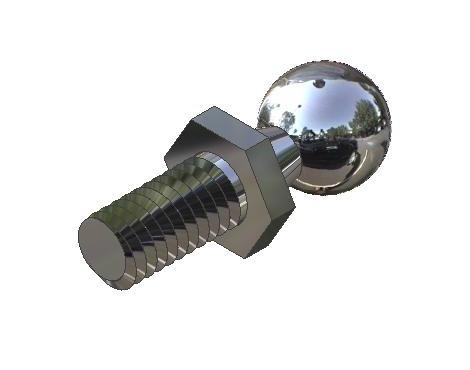 3//8-16 Thread Size Size 4 Inch Size Monroe MA-28041SS Diecast Zinc Threaded Mounting Ball Style Adjustable Handle with Stainless Steel Insert